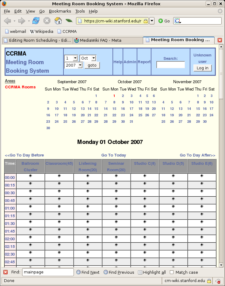 Room Scheduling - CCRMA Wiki