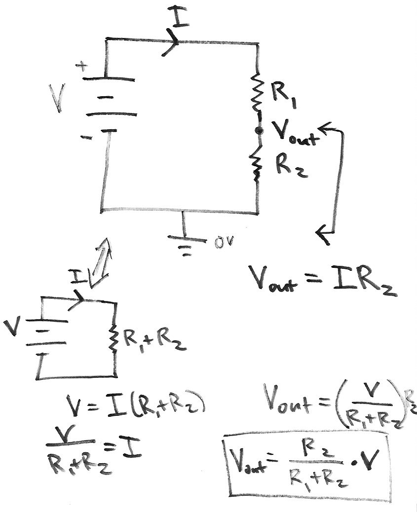 Introduction To Electronics Condensed Ccrma Wiki Parallel Circuit Diagram In A Voltage Divider