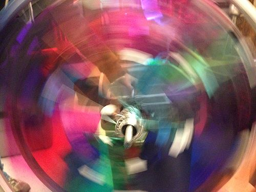 Bicycaleidoscope wheel spinning.jpg