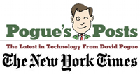 logo for New York Times column: The Latest in Technology from David Pogue
